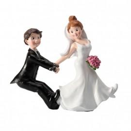 Couple mariés enchainés